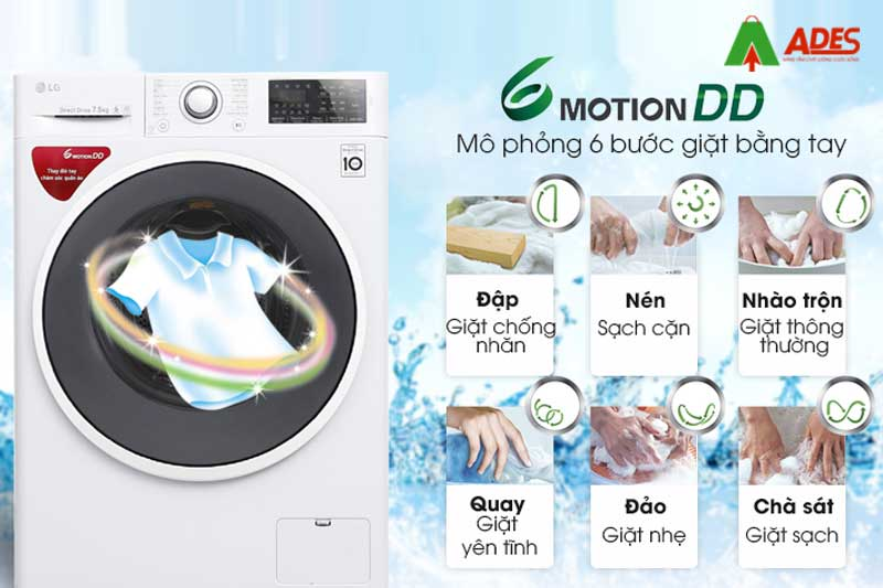 Cong nghe giat 6 Motion DD hien dai