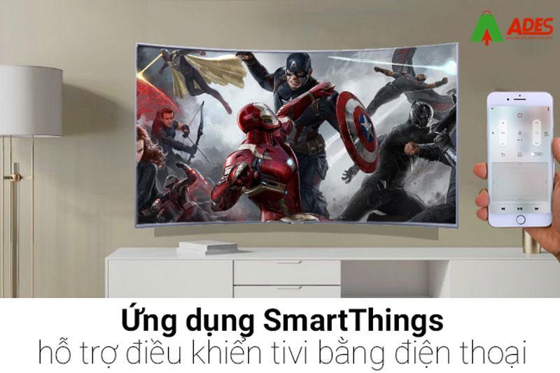 Dung dien thoai, may tinh bang de dieu khien tivi qua ung dung Samsung SmartThings